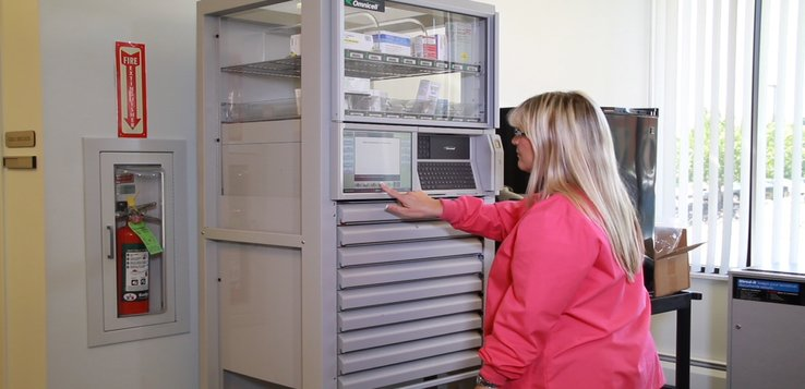 Automated medication dispensing cabinets can improve care for at-risk residents.